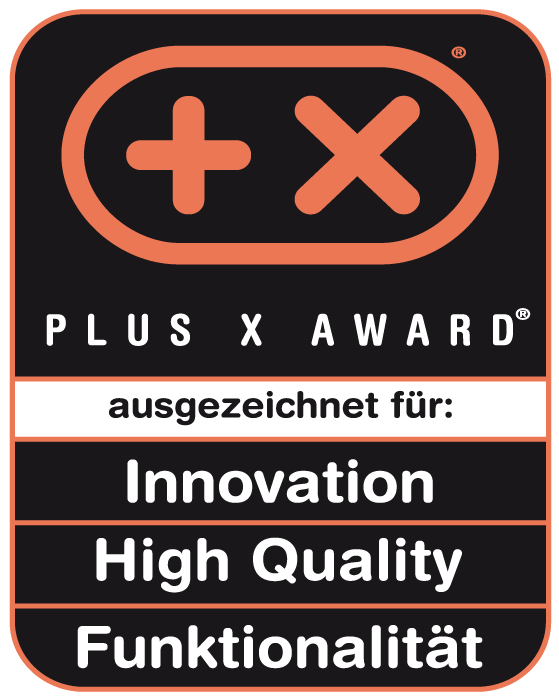 Plus X Award Innovation High Quality Funktionalität